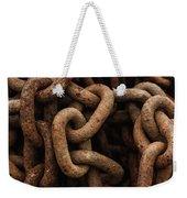 Rusted Chain Weekender Tote Bag