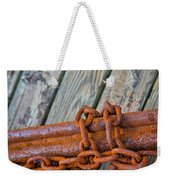 Rusted Chained Weekender Tote Bag