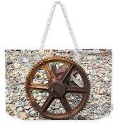 Rusted Gear Wheel Glacier National Park Montana Weekender Tote Bag