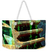 Rusted Gears Abstract Weekender Tote Bag