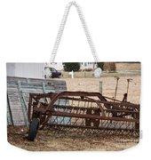 Rusted Hay Rake Weekender Tote Bag