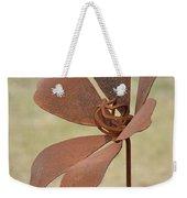 Rusted Iron Flower Weekender Tote Bag