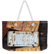 Rusted Plates Weekender Tote Bag