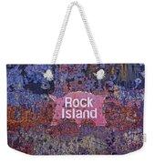 Rusted Rock Island Line Train Car Weekender Tote Bag