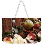 Rustic Apples Weekender Tote Bag by Amanda Elwell