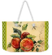 Rustic Apples On Moroccan Weekender Tote Bag