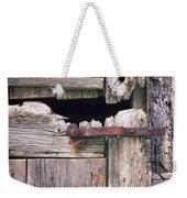 Rustic Barn Door Weekender Tote Bag