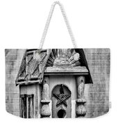 Rustic Birdhouse - Bw Weekender Tote Bag