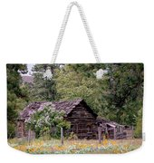Rustic Cabin In The Mountains Weekender Tote Bag by Athena Mckinzie