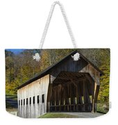 Rustic Covered Bridge Weekender Tote Bag