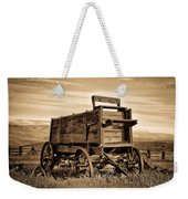 Rustic Covered Wagon Weekender Tote Bag