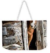 Rustic Horse Scene Weekender Tote Bag