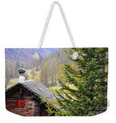 Rustic House And Tree Weekender Tote Bag