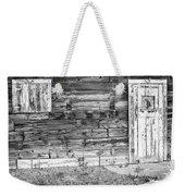 Rustic Old Colorado Barn Door And Window Bw Weekender Tote Bag