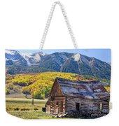 Rustic Rural Colorado Cabin Autumn Landscape Weekender Tote Bag