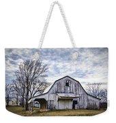 Rustic White Barn Weekender Tote Bag by Cricket Hackmann