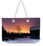 Rustic Winter Sunrise Weekender Tote Bag