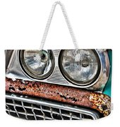 Rusty 1959 Ford Station Wagon - Front Detail Weekender Tote Bag
