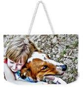 Rusty Dog Love Weekender Tote Bag