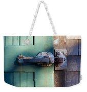 Rusty Door Latch Weekender Tote Bag
