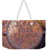 Rusty Gas Tank Cap Weekender Tote Bag