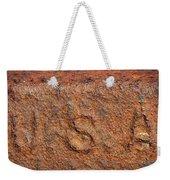 Rusty Letters Usa Weekender Tote Bag