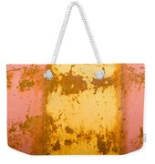 Rusty Oil Barrels Yellow Red Background Pattern Weekender Tote Bag