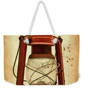 Rusty Old Lantern On Aged Textured Background E59 Weekender Tote Bag