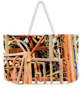 Rusty Railings Square Weekender Tote Bag
