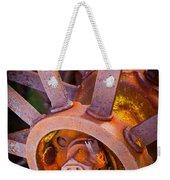 Rusty Spokes Weekender Tote Bag by Inge Johnsson