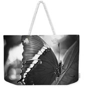 Rusty Tip Butterfly Black And White Weekender Tote Bag