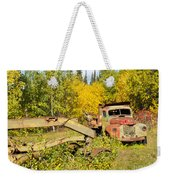 Rusty Truck And Grader Forgotten In Fall Forest Weekender Tote Bag