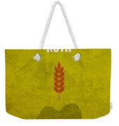 Ruth Books Of The Bible Series Old Testament Minimal Poster Art Number 8 Weekender Tote Bag