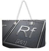 Rutherfordium Chemical Element Weekender Tote Bag