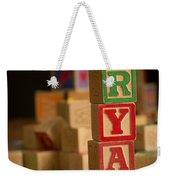 Ryan - Alphabet Blocks Weekender Tote Bag