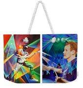 Ryan And Kris Weekender Tote Bag by Joshua Morton