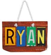Ryan License Plate Name Sign Fun Kid Room Decor. Weekender Tote Bag