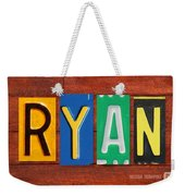 Ryan License Plate Name Sign Fun Kid Room Decor. Weekender Tote Bag