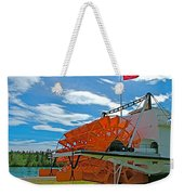 S S Klondike On Yukon River In Whitehorse-yt Weekender Tote Bag