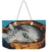 Sabrina In Her Basket Weekender Tote Bag