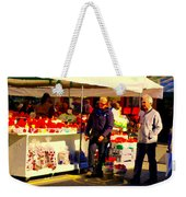 Sacks Of Potatoes Red Pepper Pots Tomato Baskets Marche Jean Talon Montreal Scenes Carole Spandau Weekender Tote Bag