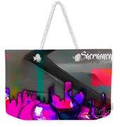 Sacramento Skyline Watercolor Weekender Tote Bag