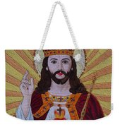Sacred Heart Of Jesus Hand Embroidery Weekender Tote Bag