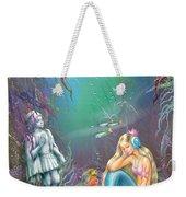 Sad Little Mermaid Weekender Tote Bag by Zorina Baldescu