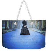 Sad Victorian Woman Alone In A Park At Dusk Weekender Tote Bag