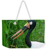Saddle Billed Stork-00139 Weekender Tote Bag