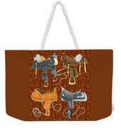 Saddle Leather Weekender Tote Bag