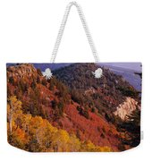 Saddle Mountain Autumn-sq Weekender Tote Bag
