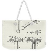 Safety Razor Patent 1937 Weekender Tote Bag