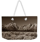 Sagebrush And Tetons Weekender Tote Bag